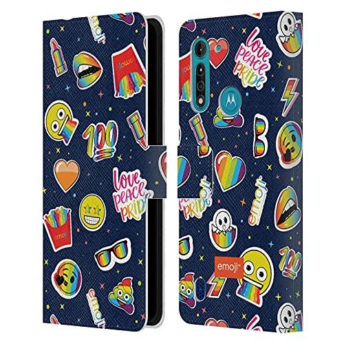 Head Hülle Designs Offizielle Zugelassen Emoji® Ikonen Muster Stolz Leder Brieftaschen Handyhülle Hülle Huelle kompatibel mit Motorola Moto G8 Power Lite