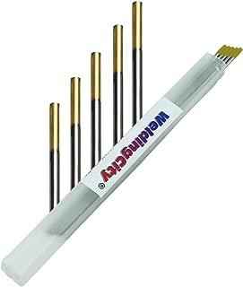 WeldingCity 5-pcs TIG Welding Tungsten Electrode 1.5% Lanthanated (Gold/AWS: EWLa15) .040