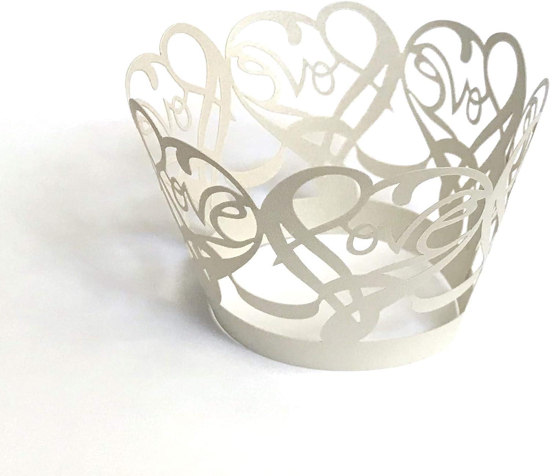 12 pcs Beautiful Silver Grey Lace Damask Wedding Cupcake Liners Liner Baking Cup Cupcake Wrapper Wrappers Gold Cupcake Wrappers