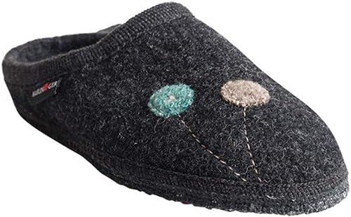Haflinger femmes& 39;s Walktoffel Solvejk argent argent argent gris Wool Slippers 410