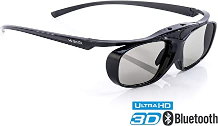 Hi-SHOCK RF Pro Black Heaven 3D Active Glasses for FullHD 4k EPSON Projector by Epson EH-TW550, EH-TW5910, EH-TW6100W, EH-TW6100, EH-TW9100, EH-TW9100W, EH-TW8100 - comp with ELPGS03   Rechargeable