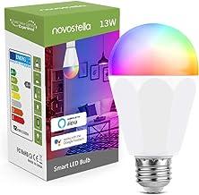 Novostella 13W 1300LM Smart LED Light Bulbs, WiFi RGBCW 2700K-6500K Dimmable Multicolor Bulb, A19 E26, 120W Equivalent Col...