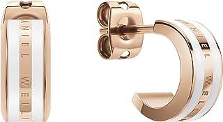 Daniel Wellington Emalie Earrings, Rose Gold/White