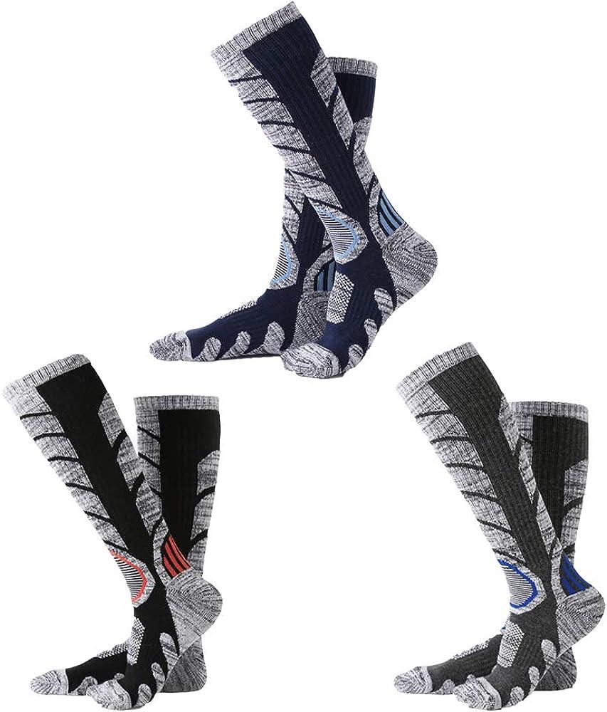 Ski Socks Mens Womens Milwaukee Mall Winter Denver Mall High Skiing Snowbo Warm Performance