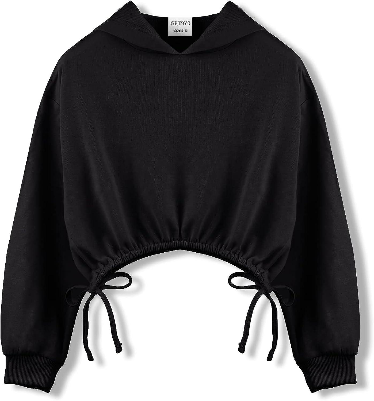 GBTBYS Girls Crop Courier shipping free shipping Tops Hoodies Long Cute Sleeve Ranking TOP18 De Tied Shirring