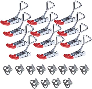 OBANGONG 12 Pcs Adjustable Toggle Clamp,330lbs Holding Capacity Heavy Duty 4001 Style Latch Hasp Clamp for Door,Box Case Trunk,Quick Release Pull Latch,Sturdy Metal Draw Latch