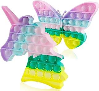Sponsored Ad - Genovega 2 Packs Push Bubble Pop Fidget Sensory it Toys, Figit Set Silicone Figetget Popits, Autism Special...