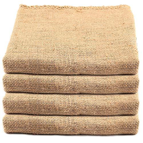 KEILEOHO 4 Pack 40 X 24 Inch Burlap Bags, Large Food Grade Burlap Sacks for Gardening, Planting Growing Bags, Potato Sack Race Bags for School Racing Game, Christmas Party Game