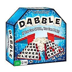 Dabble board game with letter tiles on a stand