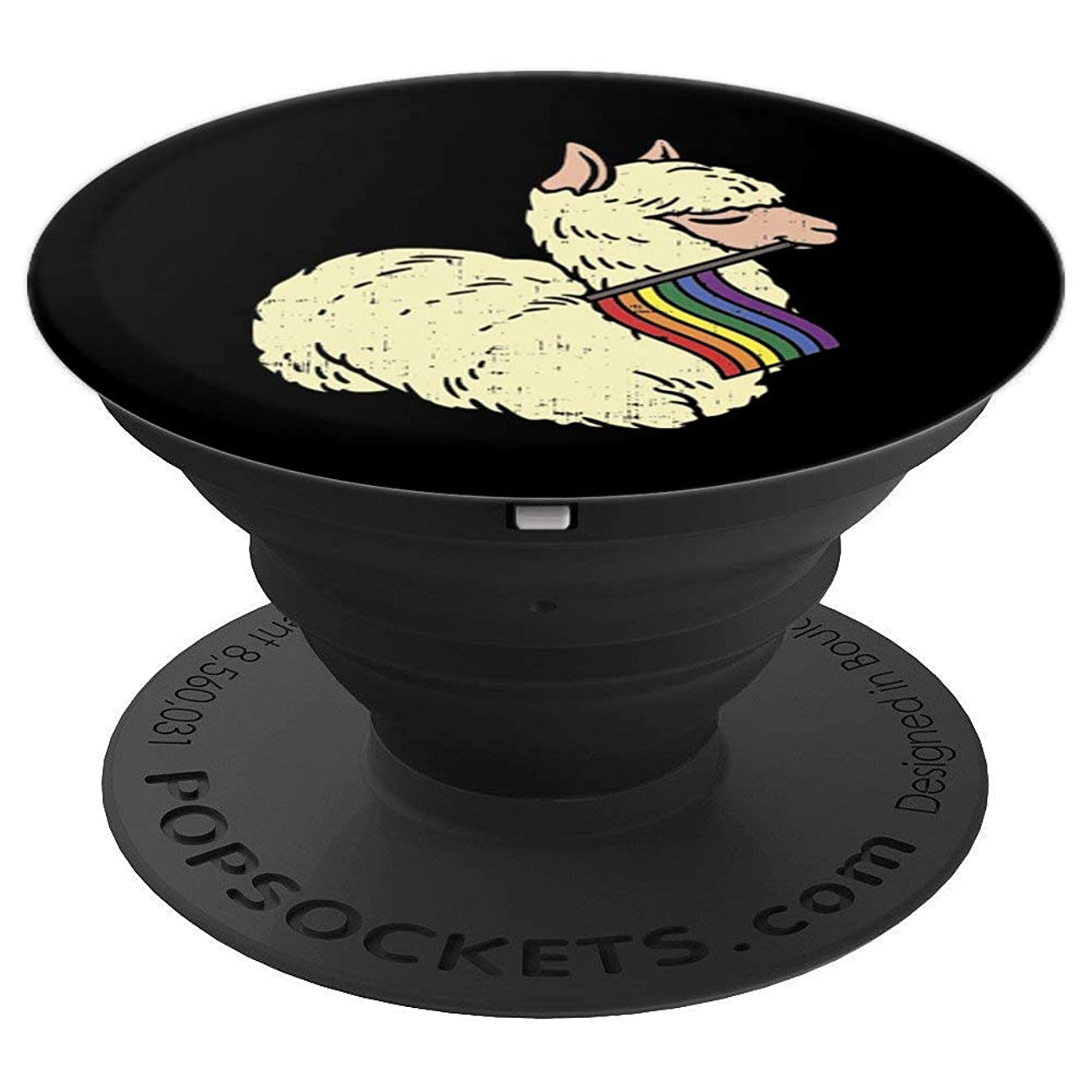 LGBT Llama Rainbow Flag Cute Gay Pride Animal Lover Gift - PopSockets Grip and Stand for Phones and Tablets