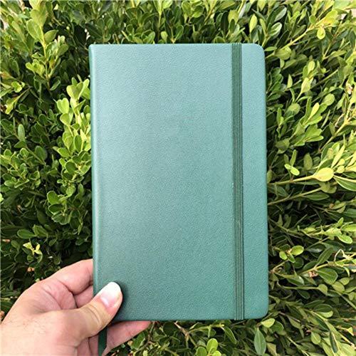 Cuaderno de bocetos de cuero de la PU cuaderno de bocetos punto cuadrícula bullet diario 100 g / m2 papel 192 páginas LOGOTIPO PERSONALIZADO, VERDE, PUNTADO y LOGOTIPO