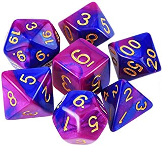 ARTSTORE 7PCS Polyhedral Gaming Dice for Dungeons and Dragons Dice Game D&D Dice,RPG MTG Table Games,Purple