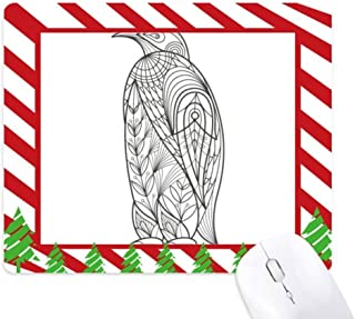 Biggest Bird Paint Cold Mouse Pad Candy Cane Rubber Pad Christmas Mat