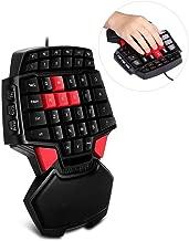 PinPle Keybaord One Handed Keyboard Portable Mini Gaming Keypad Ergonomic Game Controller for LOL / WOW / DOTA