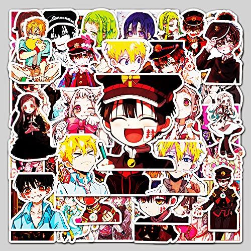 ZNMSB 50 Dibujos Animados Adolescentes vinculados a la Tierra, el Rey de Las Flores, Pegatinas de Graffiti de Anime, Pegatinas Decorativas Impermeables para Maletas, refrigeradores y Coches
