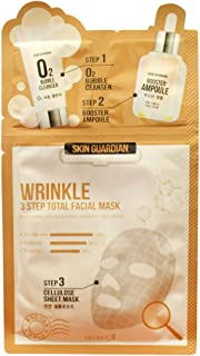Christmas SALE Skin Guardian Wrinkle 3 Step Total Facial Mask (10 Pack) the Most Popular Brand in Korea Enjoyed By Many Celebrities Including K-pop and K-drama Stars