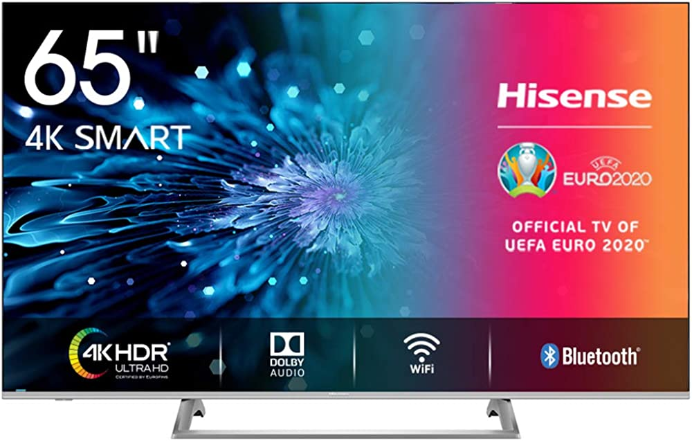 Hisense televisore 65 pollici smart tv led ultra hd 4k dolby vision hdr, wide colour gamut H65BE7400