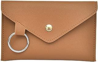 Everpert Women Pu Leather Satchel Waist Chest Pack Casual Sling Handbag/Light Brown