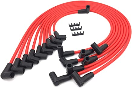Spark Plugs & Wires APSFY Spark Plug Wires Sets 8 5mm HEI SBC BBC