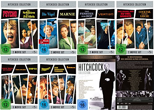 Alfred HITCHCOCK COLLECTION - 32 grosse Klassiker im Paket * 38 STUNDEN FILMGENUSS * DVD Edition