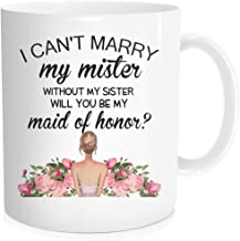 Hasdon-Hill Will You Be My, Maid of Honor, Bridesmaid Proposal, Maid of Honor Gift, Be My Maid of Honor, Coffee Mug, Matorn of Honor, Bridal Party, 11 OZ White