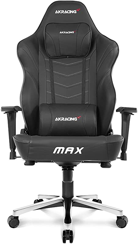 AKRacing Masters Series Max Gaming Chair With Wide Flat Seat 400 Lbs Weight Limit Rocker And Seat Height Adjustment Mechanisms With 5 10 Warranty