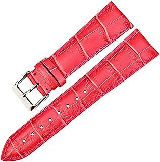 LQGSYT Correas de Reloj de Moda Correa de Reloj de Cuero Genuino Rosa 12mm-22mm para Mujer Correa de Reloj para Pulsera de...