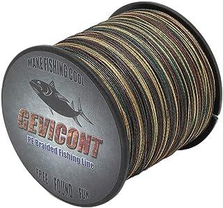 GEVICONT Superbraid Fishing Lines Zero Memory Fishing Equipment Weaves PE 8-Strand 109yds/100m 328yds/300m 547yds/500m 109...