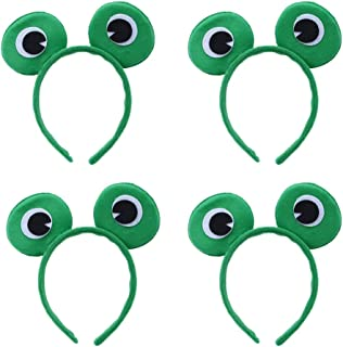 Amosfun 4 Stücke Frosch Augen Haarreif Stirnband Haarband Haarschmuck für Frauen Mädchen Kinder Geburtstag Party Kostüm