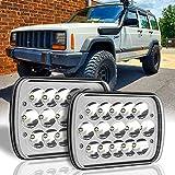 H6054 LED Headlights 5x7 LED Headlights 7x6 LED Headlamp 2PCS Hi/Low Sealed Beam H4 9003 Plug 6054 H5054 Compatible for Chevy Blazer Express Van/Jeep Wrangler YJ XJ Cherokee Truck Ford Van