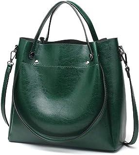 ETH Green Oil Wax Leather Hand Bag Capacity Big Bag Fashion Shoulder Bag Messenger Bag Ladies Bag 30CM * 29CM * 12CM Hand Bag