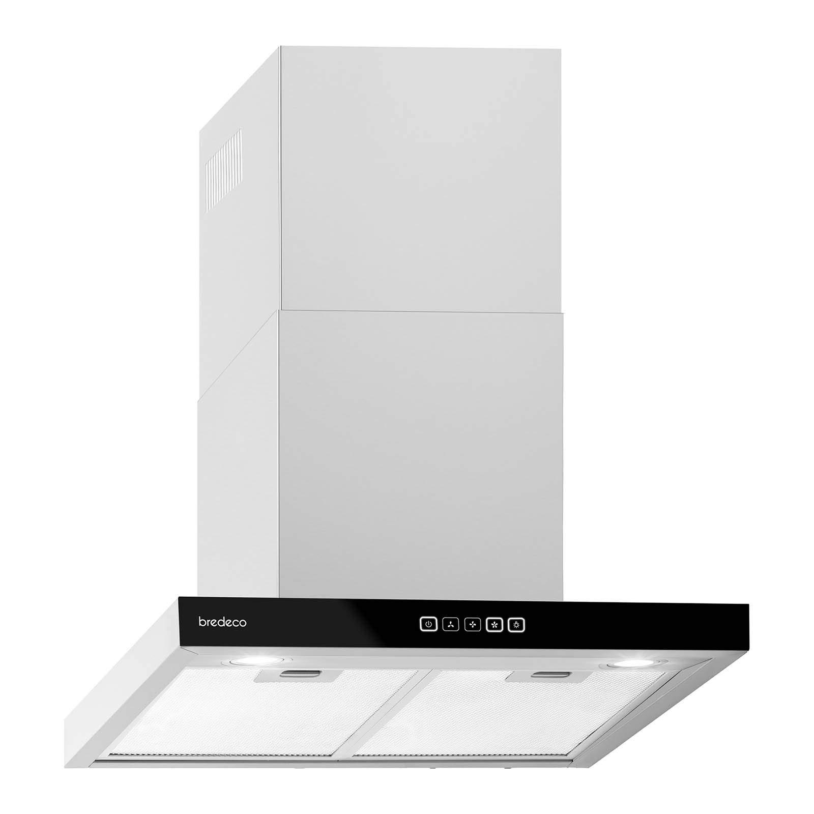 bredeco Campana De Pared Para Cocina BCCH-200A-60B (Longitud de 60 cm, 636,5 m³/h, Nivel de ruido de 70 dB, Pantalla táctil): Amazon.es: Grandes electrodomésticos