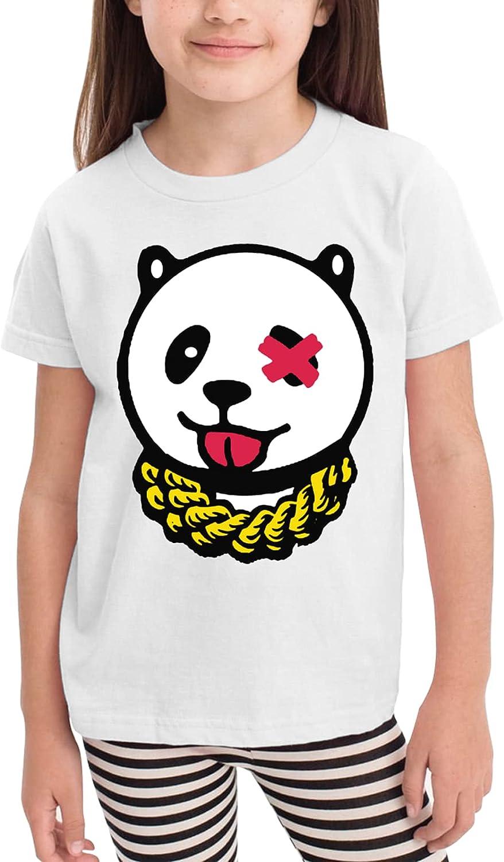 Fwysyhljt Panda Chains Toddler Girls' Shirts Fashion Short Sleeve Tee Shirt Cotton Tops Gray