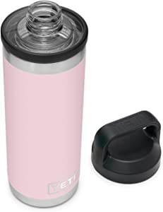 YETI Rambler 18 oz Bottle, Vacuum Insulated, Stainless Steel with Chug Cap, Ice Pink