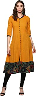 Yash Gallery Women's cotton a-line Kurta