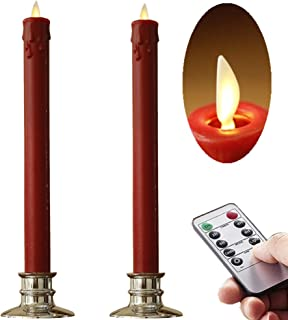 Best flameless flickering taper candles with timer Reviews