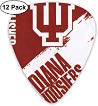 WeaiDanu Indiana Hoosiers Classic Guitar Picks (12 Pack) for Electric Guitar, Acoustic Guitar, Mandolin, and Bass