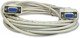 Your Cable Store 25 Foot DB9 9 Pin Serial Port Null Modem Cable Female/Female RS232