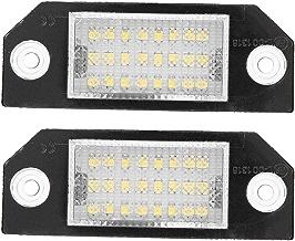 2pcs Luces de matrícula 6000k 12V para C-MAX (2003-2010) Focus MK2 (2003-2008)