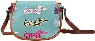 InterestPrint Scottie Dog Casual Crossbody Saddle Bags for Women Shoulder Purse Handbags