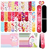 FiGoal 30 Pack Valentine's Day Magnetic Bookmark with 30 Valentine's Day Cards Kids Classroom Assorted Stationery Value Gift Set in 30 Different Designs Classroom Exchange Party Supplies