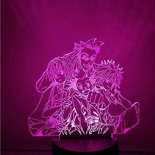 Veilleuse 3d led Lampe d'anime 16 Couleurs Tactile Lampe de Table Art Déco Enfant Lumière de Nuit avec télécommande Nouvea...