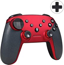 Delymc PS12 Wireless Gamepad for Nintend Switch, Switch Pro Bluetooth Wireless Controller Gamepad Control with Gyro Axis Dual Shock Vibration for Nintendo Switch - Red (Third-Party Product)