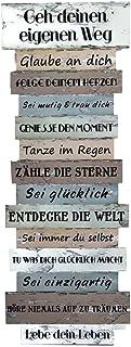 Bada Bing Bada Bing Wandschild Ca. 41, x 15 cm Lebenseinstellung Wünsche Bild Plankenoptik Spruch Schild Deko Geschenk Wandbild 09