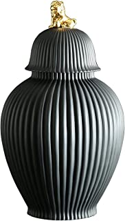 LUYIYI Céramique Stockage Jar Décoration Grand Pot scellé du ménage, Porche de Salon Porche Jar décoratif avec Couvercle