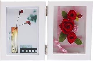 プリザーブドフラワー メモリアル フォトフレーム 写真立て 結婚祝い 母の日 誕生日 女性 お見舞い 退職祝い お祝いLサイズ (縦置きタイプ)