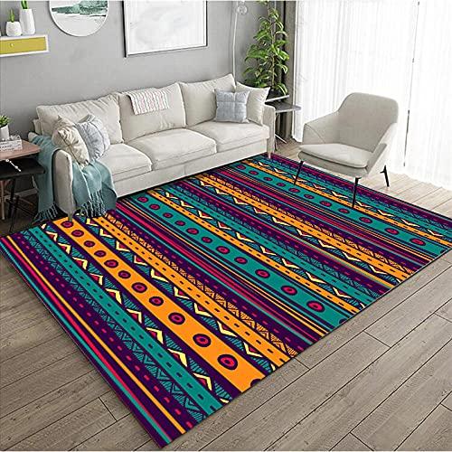 KaO0YaN,Estera de Piso Oriental Persa Tradicional, Alfombra de Pila Baja, Estera de baño Vintage Antideslizante, alfombras de Corredor para la Cocina de Pasillo(2,100x200cm)