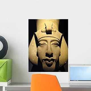 Statue Pharaoh Akhenaten Also Wall Mural by Wallmonkeys Peel and Stick Graphic (18 in H x 14 in W) WM200265