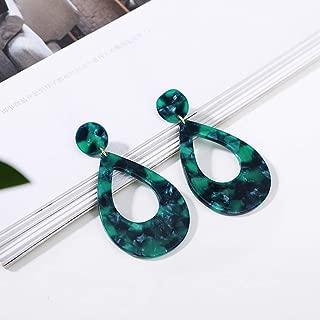Femme Fashion 14K or plaqué laiton Noir Onyx Fait à la main Boucles d/'oreilles pendantes bijoux