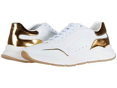 Dolce & Gabbana Kids Sneaker Classica Vitello Nappa (Big Kid) (Bianco/Oro Chiaro) Kid